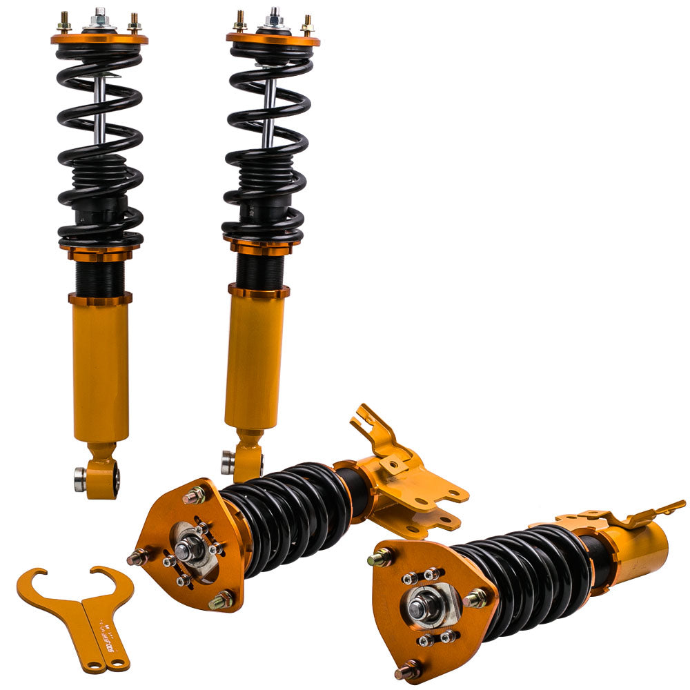 For High Performance 89-93 Nissan S13 Silvia Sileighty 180/200/240SX  Adj Height  and amp; Camber Coilover / Shock Absorbers Suspension Kits