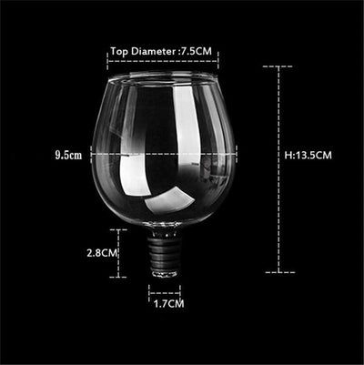 Just One Glass! A True Wine Glass Add on Wine Bottle