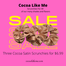 Load image into Gallery viewer, Cocoa Satin Scrunchies (3-pack)
