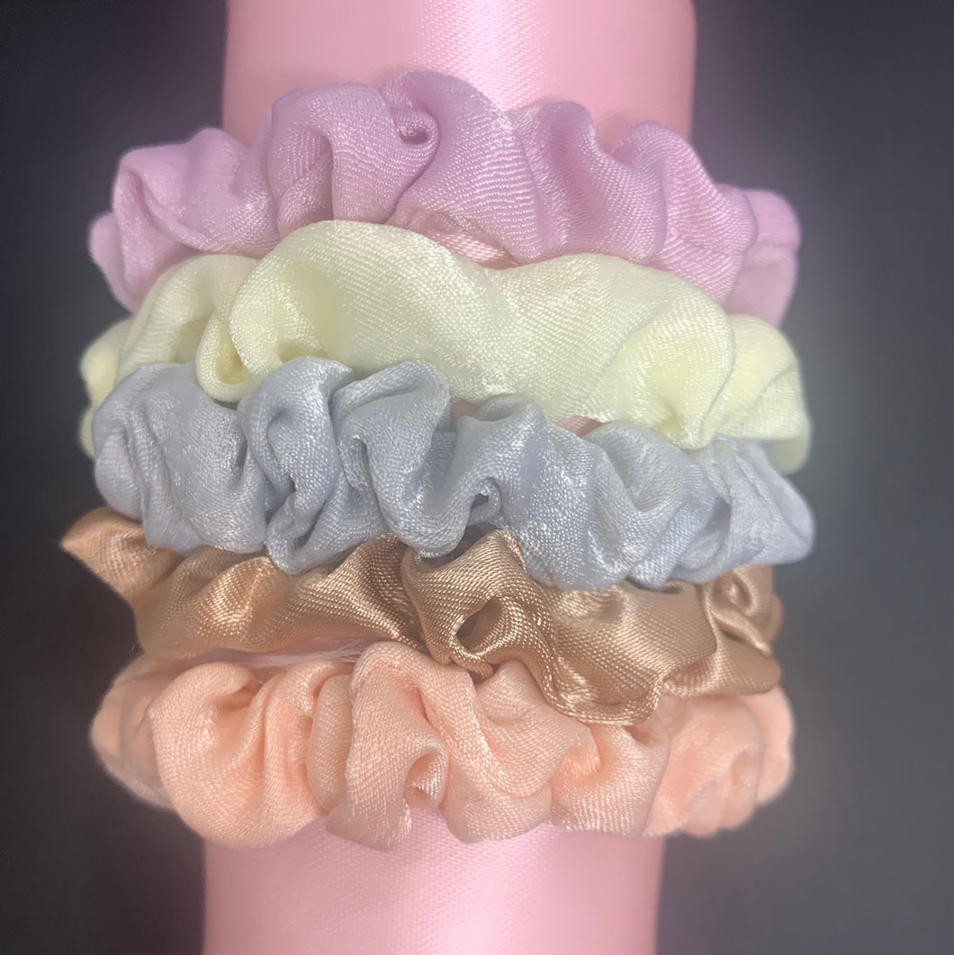 Midi Scrunchie (5-Pack): Bubble Gum Colors
