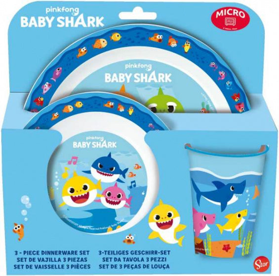 Baby Shark Serviesset Junior/ kids 3-Delig