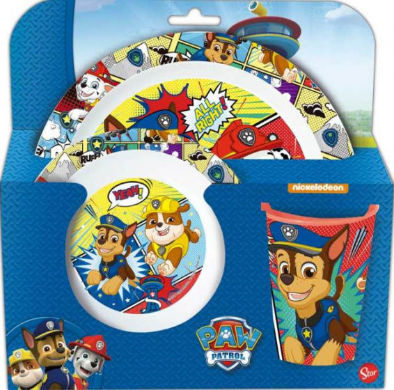 Nickelodeon Serviesset Paw Patrol junior/ kids 3-Delig