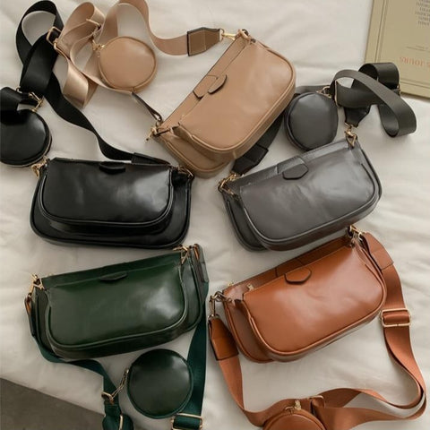 multiple colors of purses