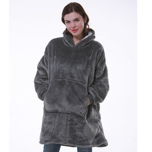 Oversized Fleece Hoodie - Palmetto Reina