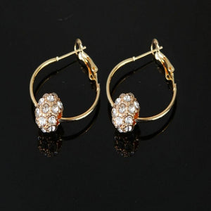 Gold Crystal Hoop Earrings - Palmetto Reina