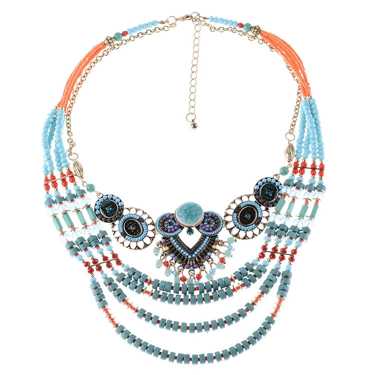 BARBARA Beaded Necklace - Palmetto Reina