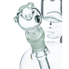 Clear Glass Bubble Beaker with Angled Neck