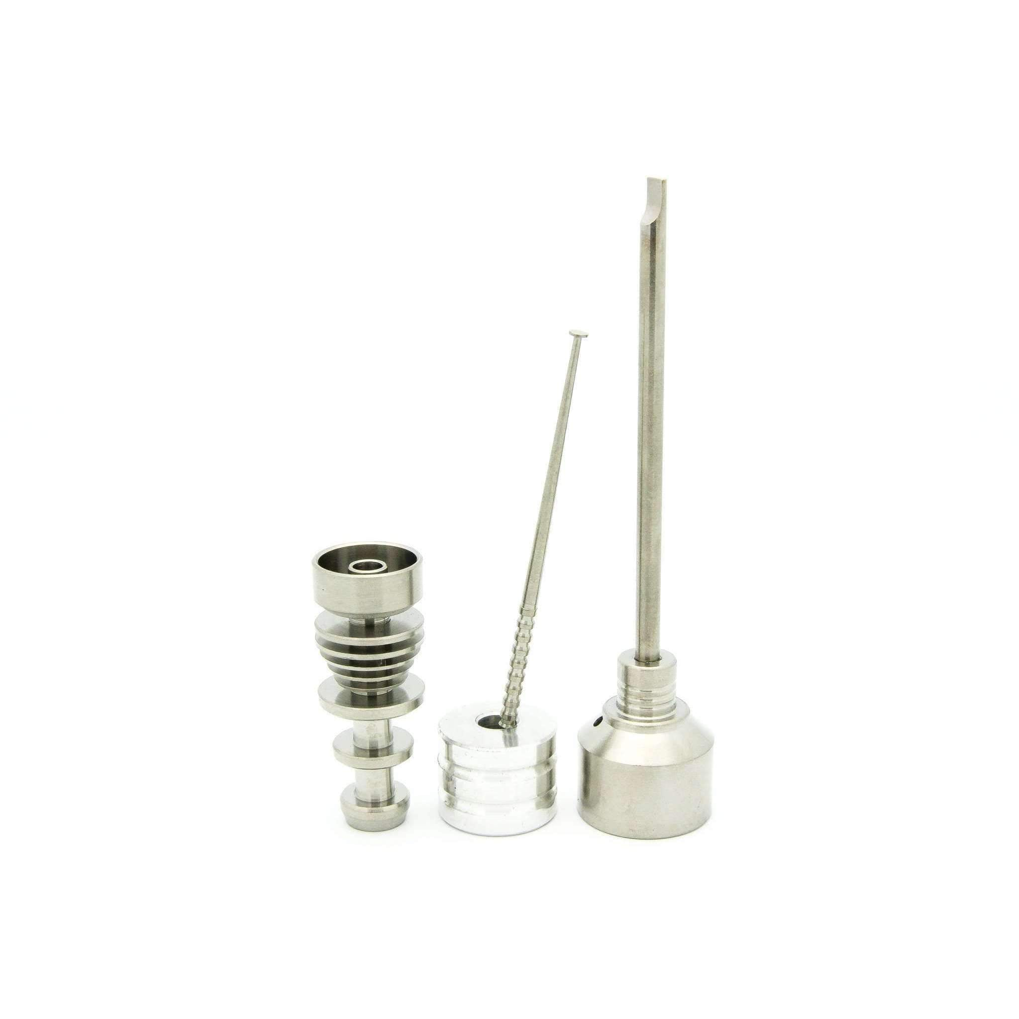 Piranha 14mm & 18mm Domeless Titanium Nail Male Joint (Complete Kit)