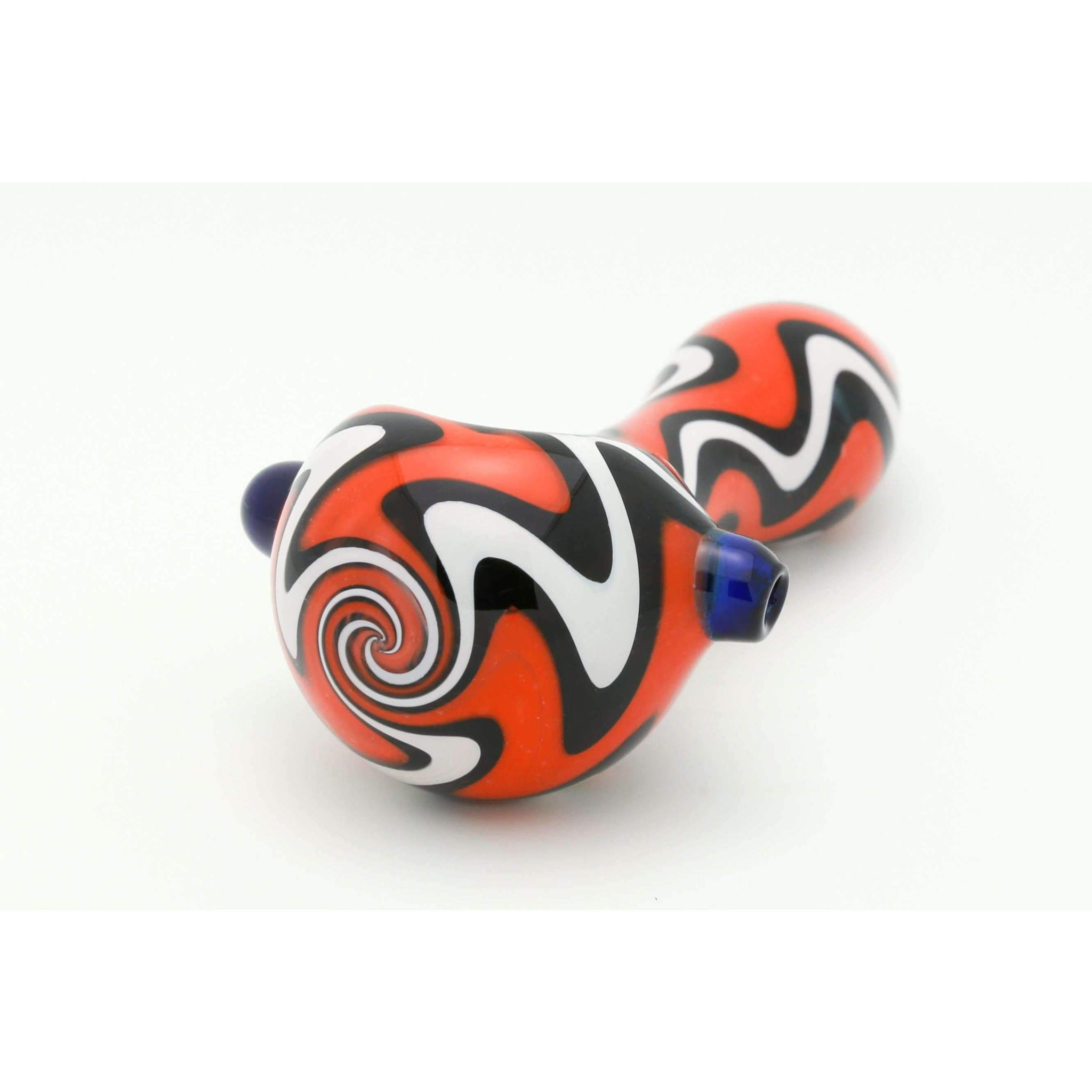 Wizard Puff Trippy Swirl Hand Pipe (Orange Dream)