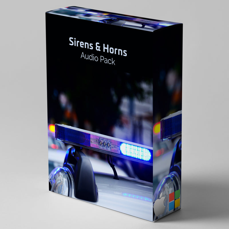 Sirens & Horns Emergency Sound Effects Pack