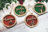 Personalised Name Tree Ornament