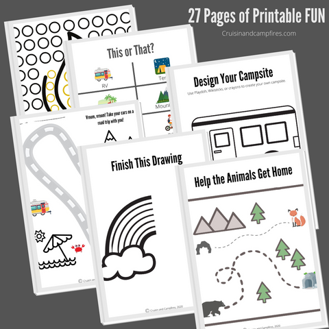 Road Trip Busy Book Printables