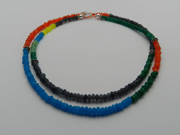 Mix beads citrus necklace