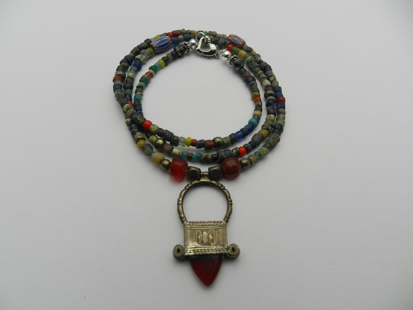 Ghanian beads beaded necklace