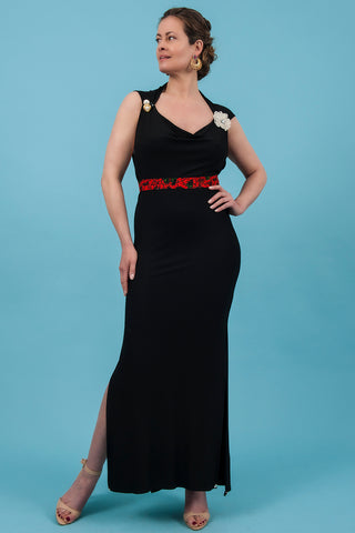 Black Side Split Dress