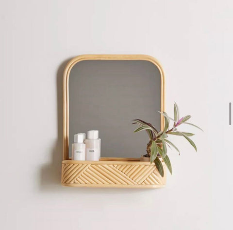 Bloom Mirror with Shelf