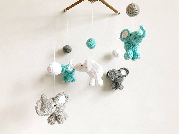 Thai Elephant Crochet Baby Mobile