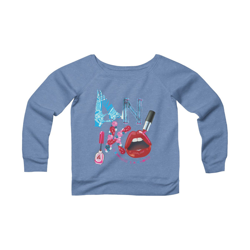 Happiness Is A Choice Sponge Fleece Wide Neck Sweatshirt