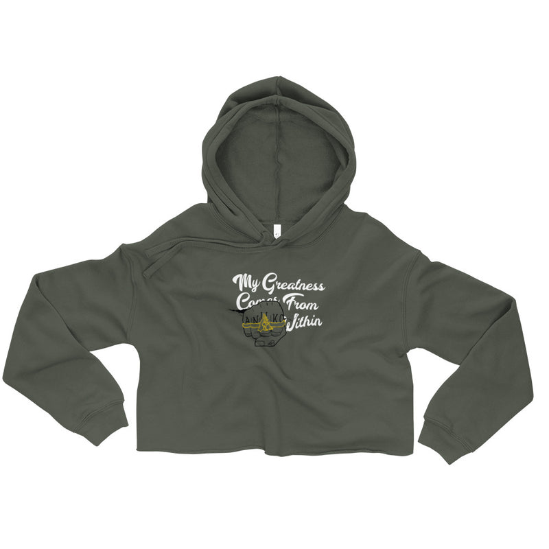 Greatness from Within Crop Hoodie