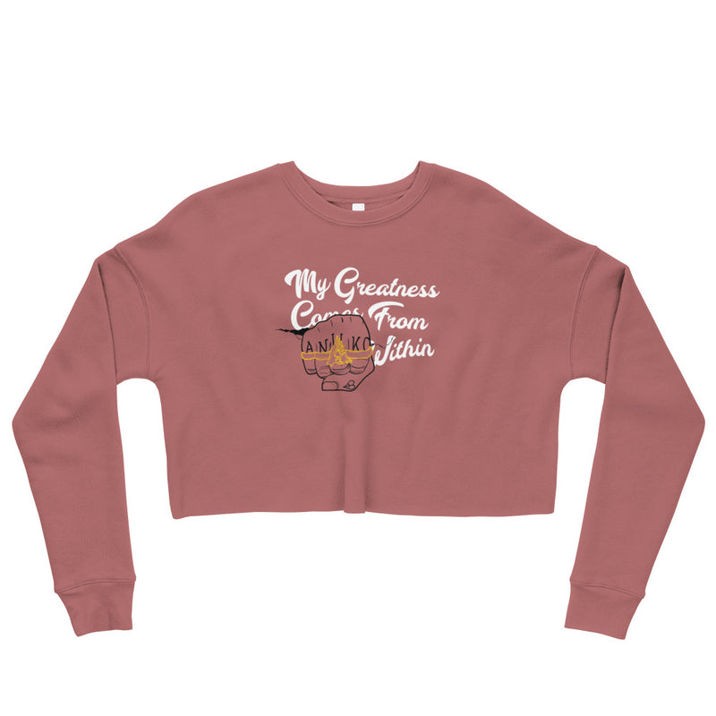Greatness From Within Crop Sweatshirt