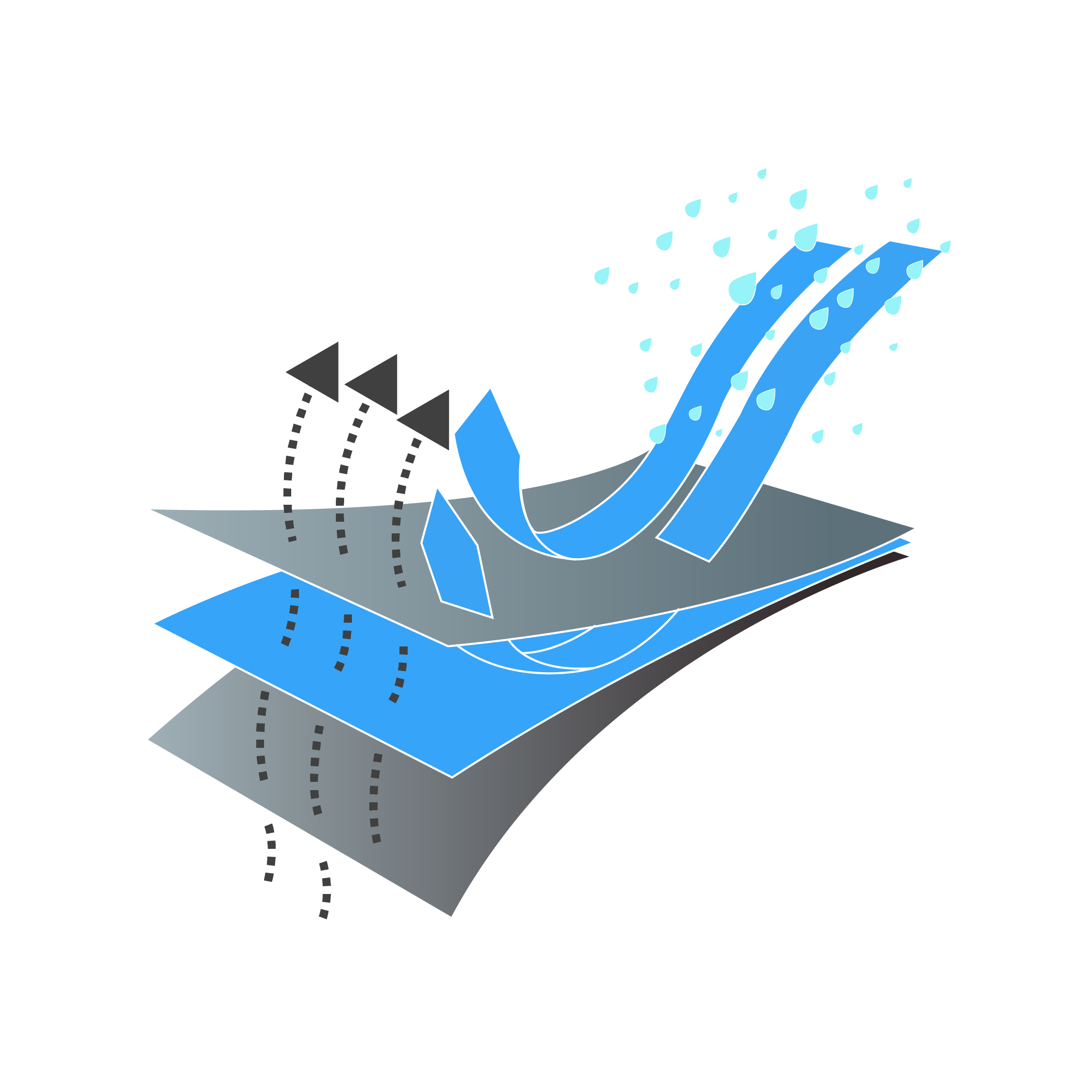 waterproof technology illustration