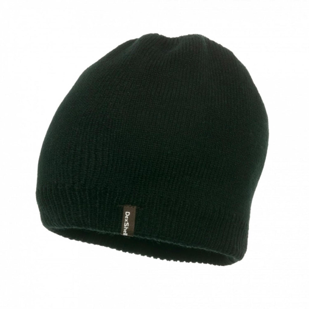 DexShell Solo Beanie Black side view with brand logo