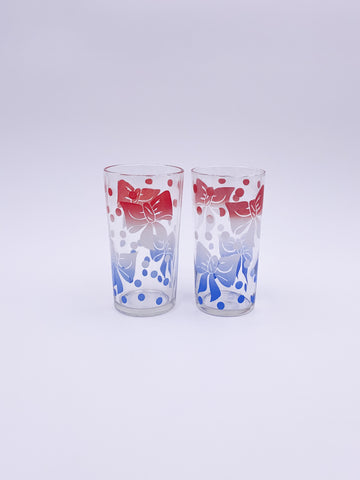 Set of 2 Tumbler Glasses with Bow
