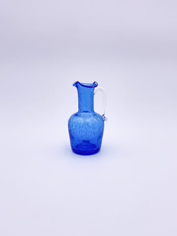 Small Crackle Glass Pitcher
