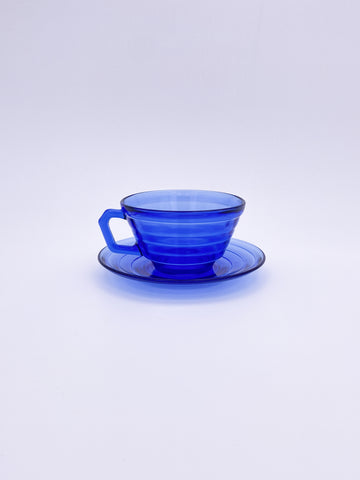 Ribbed Cup and Saucer Set