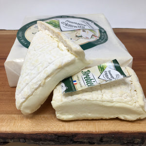 Several pieces of soft sheep's milk cheese
