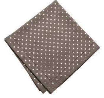Pewter Metallic Mini Dot Napkin - Set of 4