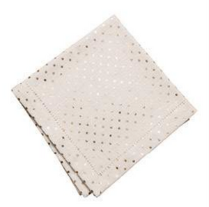 Gold Metallic Mini Dot Napkins - Set of 4