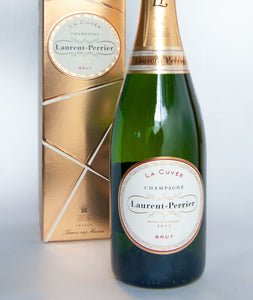 bottle of Laurent Perrier champange