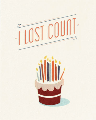 Lost Count Birthday