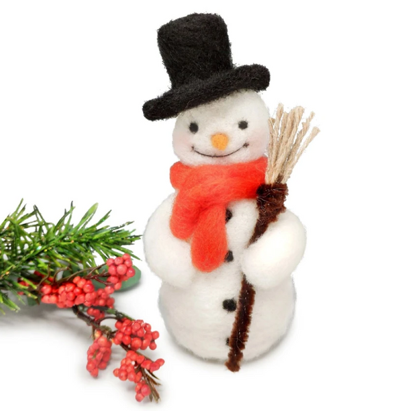 Festive Snowman Needle Felting Kit