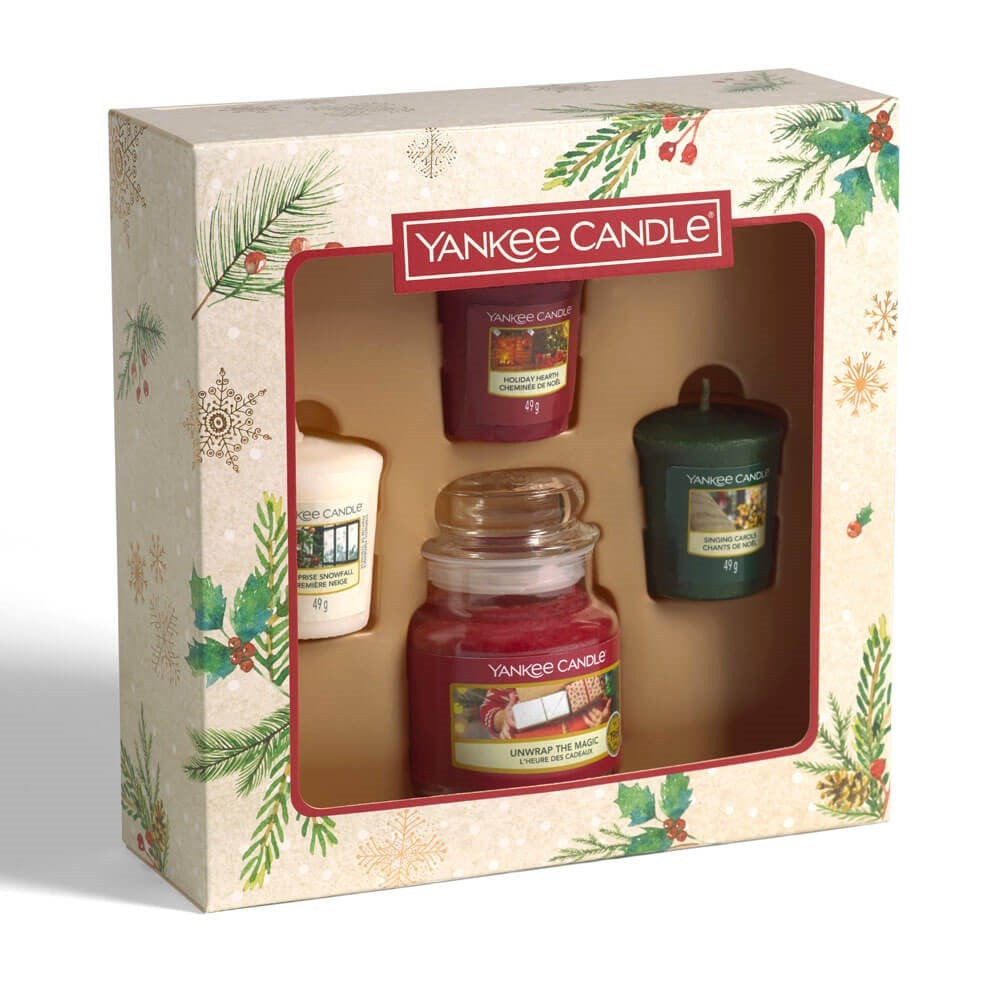 Yankee Candle 1 Small Jar, 3 Votive Gift Sets