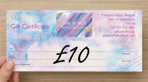 £10 - Gift Certificate