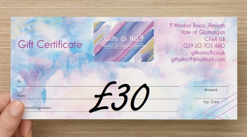 £30 - Gift Certificate