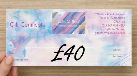 £40 - Gift Certificate