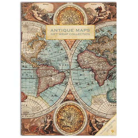 Gift Wrap - Antiques Map