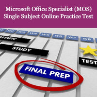Microsoft Office Specialist (MOS) Single Subject Online Practice Test