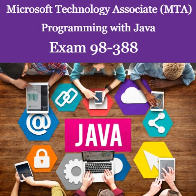 MTA 98-388 -  Programming with Java Self-Paced Online Course + Online Practice Test + MTA Voucher with Retake