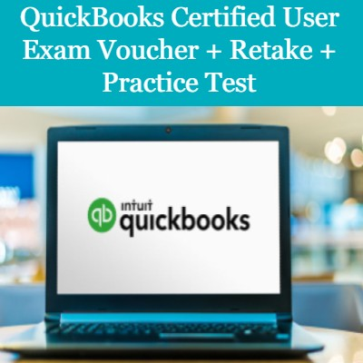 QuickBooks User Exam Voucher + Retake + Practice Test