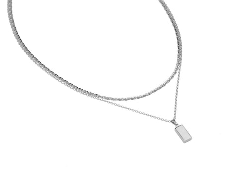 Alegria Necklace | Rhodium Dipped