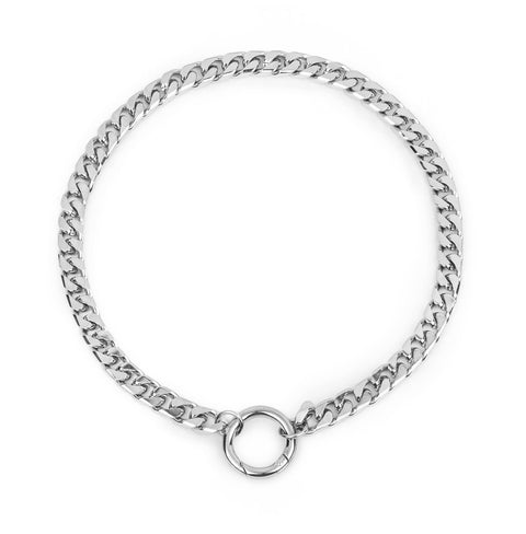 Benz Necklace | Rhodium Dipped