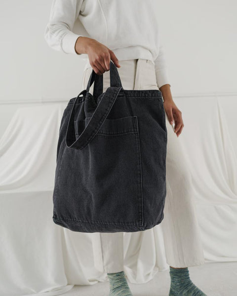 Giant Pocket Tote Washed Black