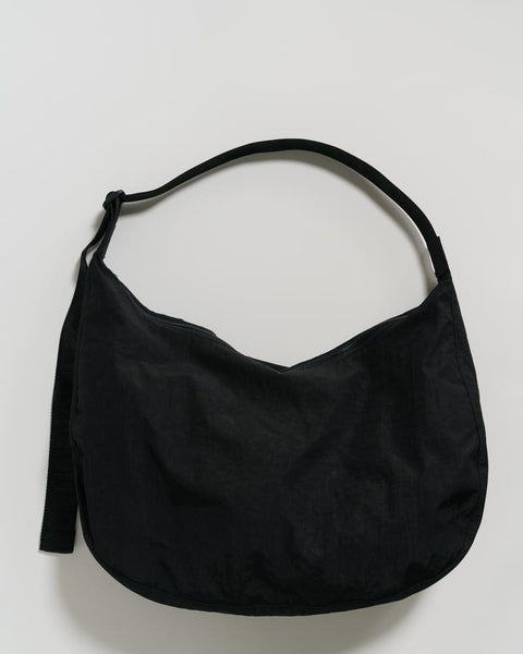 Large Nylon Crescent Bag | Black
