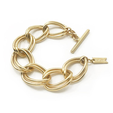 Coastline Bracelet | 14k Gold Dipped