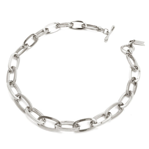 Chainlink Collar | Rhodium Dipped