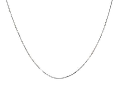 "Come Again-Box Link Chain 16""-Jewelry-Silver-ZANE-Toronto-Canada"